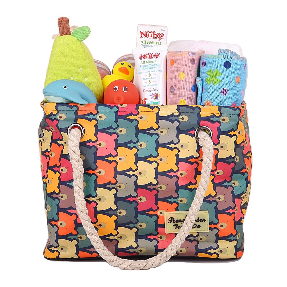 Baby Room Storage Basket, Nursery Bag for Diapers Wipes Clothes Blankets Book, Tote Baskets for Baby Shower, Kids' Toy Arts Crafts Organizer Box, Boy Girl Bath Caddy, Hamper, Shower Caddy Color Bear
