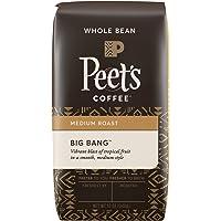 Peet's Coffee, Big Bang, Medium Roast, Whole Bean Coffee, 12 oz. Bag, Brilliant, Bright Blend of Ethiopian Super Natural Coffee, Medium Bodied, Aromatic & Fruity with Citrus Notes