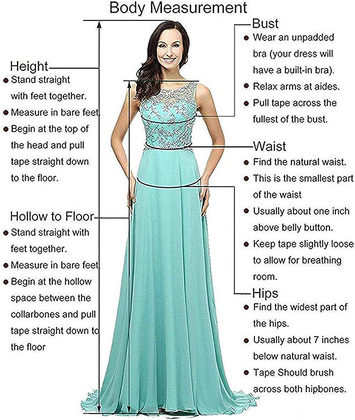 VERNASSA Womens Chiffon Bridesmaid Long Prom Dresses Lace Dress Party Dress