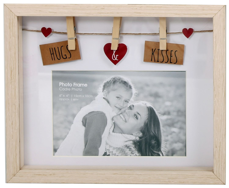 Amazon.de: Wäschespinne mit Wäscheklammern, Holz, für 6 X 4 Fotos ...