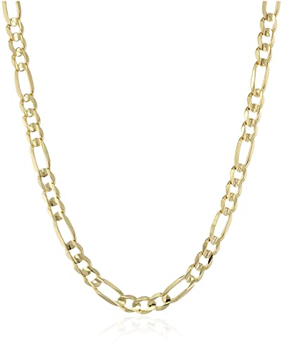 b0633ad13a46 Men s 10k Yellow Gold 6.2mm Italian Figaro Chain Necklace