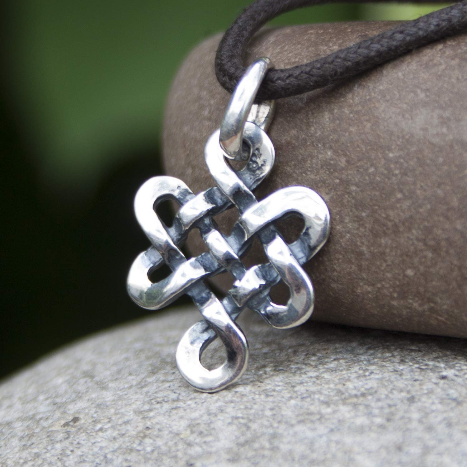 Tibetan Endless Knot Necklace Infinite Celtic Irish Love Knot Pendant Mystic Buddhist Amulet Wiccan Nepal Jewelry for Men Women Yoga Lover ...