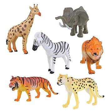 Leopardo Jirafa Modelo Piezas Plástico Tigre 6 León De Nuolux mOwy8n0vN