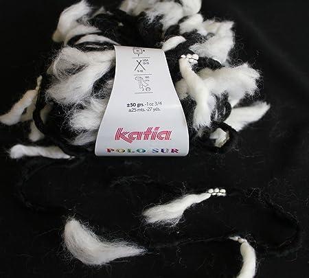 Katia Polo Sur 403 Blanco y Negro 50 g lana: Amazon.es: Hogar