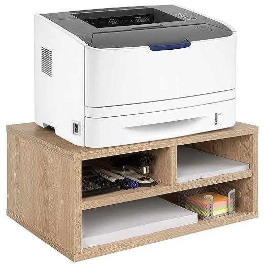 COMIFORT Soporte para Impresora, Gabinete para Impresora, 48x32,23 cm (Roble)