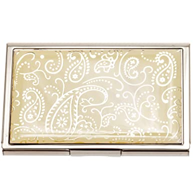 White paisley business card case at amazon womens clothing store white paisley business card case at amazon womens clothing store credit card holders colourmoves Choice Image