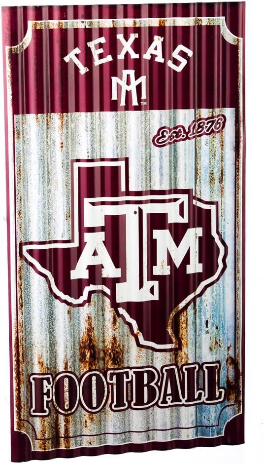 Team Sports America Texas A/&M Aggies Corrugated Metal Wall Art