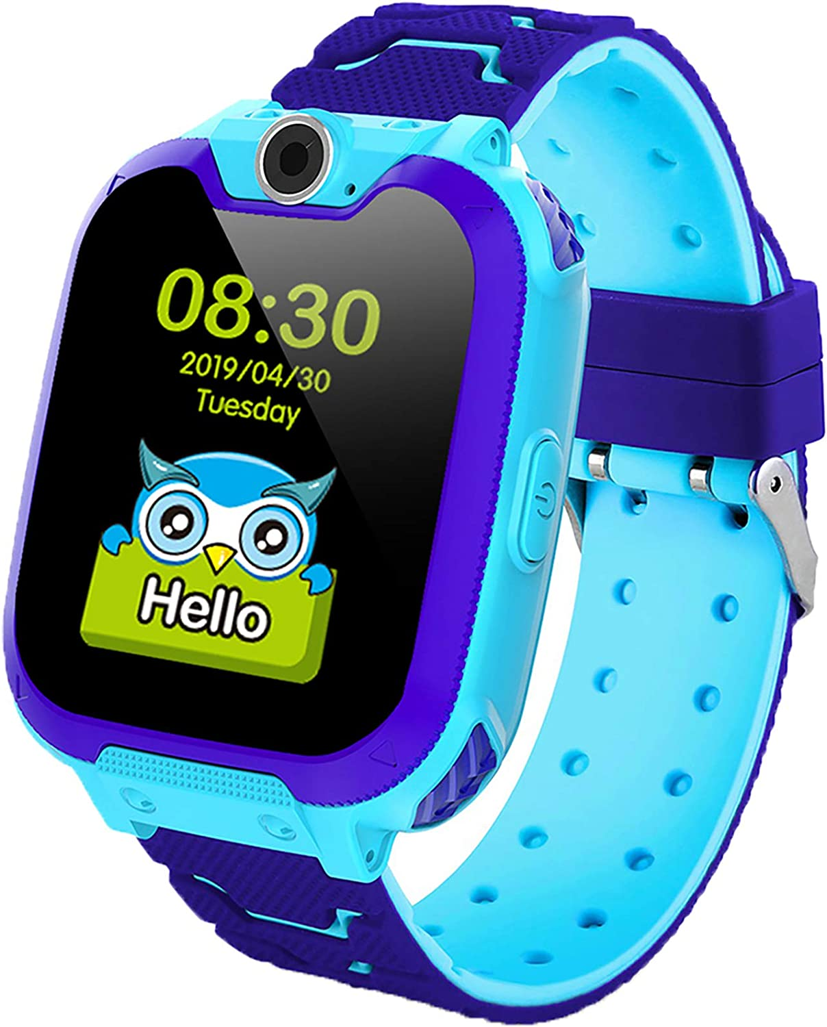 Kids Smart Watch for Boys Girls - Kids Watches with Games - 1.44'' HD Touch Screen Smartwatch for Children with SOS Call Camera Music Player Game Alarm (Blue)