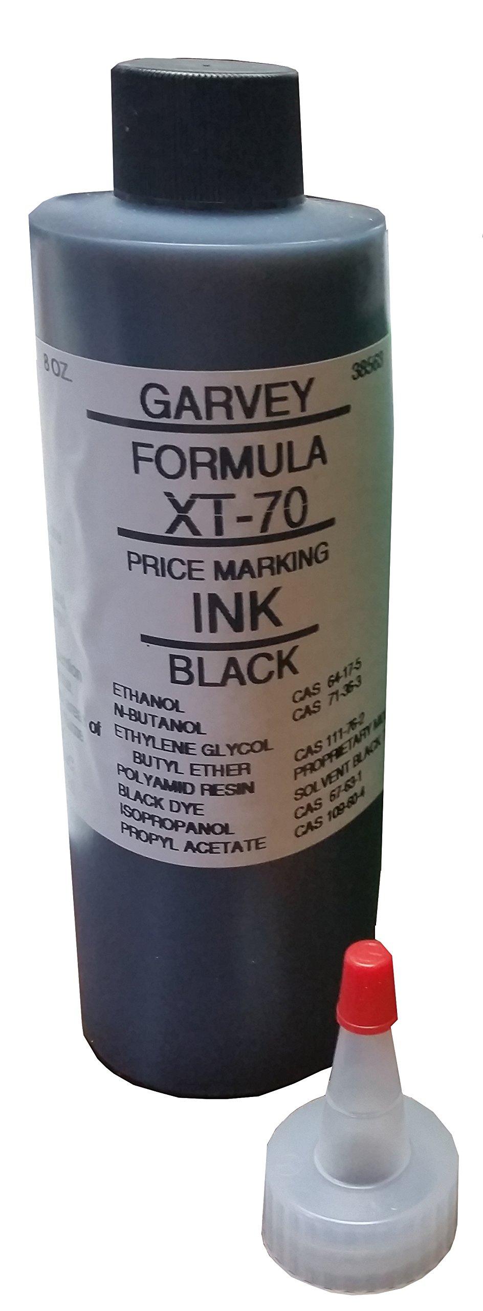 Formula XT-70 Black Price Marking Ink for Grocery Band Stamper (8 oz.)