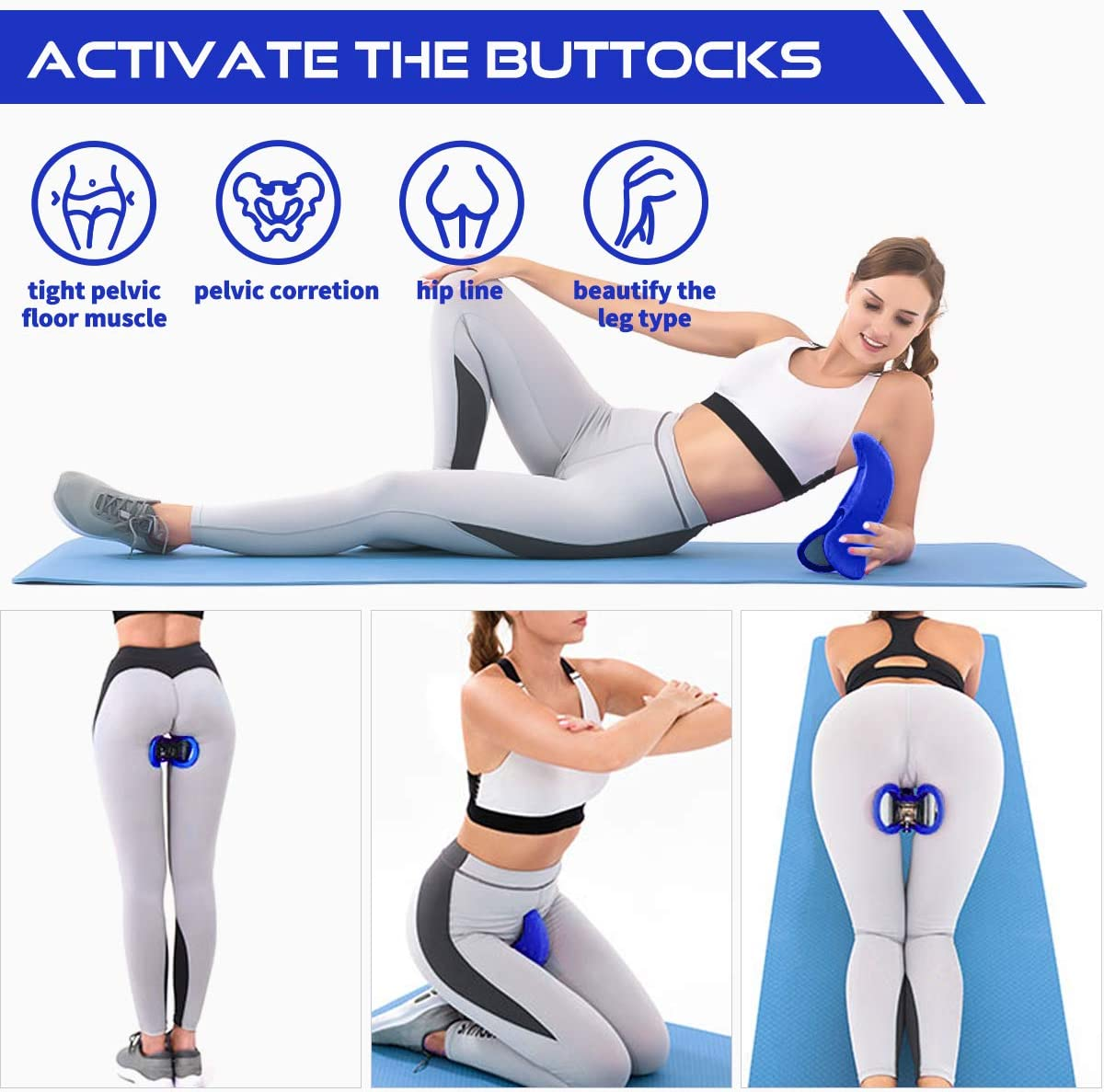 Butt Workout Tool Kegel Pelvic Floor Strengthening Device and Inner Thigh Exerciser All in One 4D Hip Trainer Accelerates Postpartum Rehabilitation and Improves Bladder Control