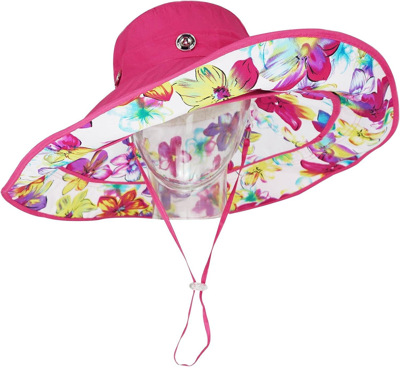 Bienvenu Womens Large Brim Floppy Foldable Roll up UPF 50 Beach Sun Hat