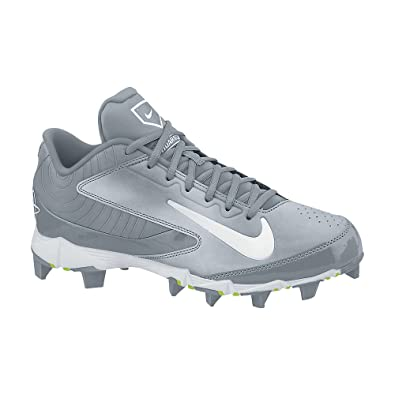 NIKE HUARACHE KEYSTONE LOW GS GREY/GRAPH/WHITE YOUTH MOLDED BASEBALL CLEATS  2Y