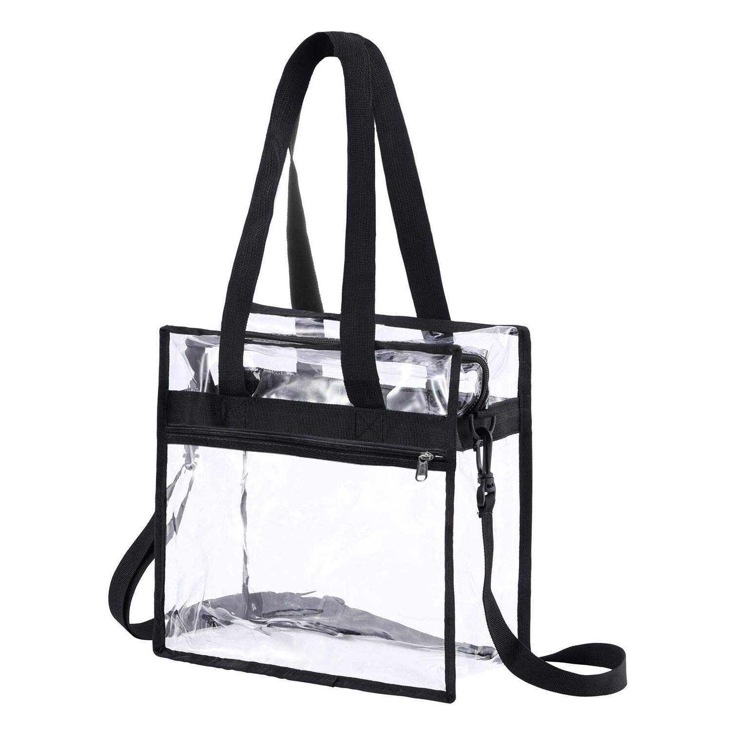 Tvoj poklon Clear Bag Stadium Approved,NCAA NFL/&PGA Security Approved Clear Tote Bag with Adjustable Shoulder Strap Gym Clear Bag for Work Concerts and Travel Sports Games School