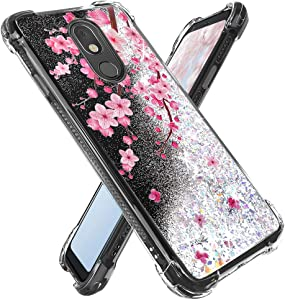 Miss Arts for LG Stylo 5 Case,for LG Stylo 5 Plus/LG Stylo 5V / LG Stylo 5X Shock Proof Case,Girls Women Flowing Liquid Holographic Holo Case with Flowers Design for LG Stylo 5 -Cherry Blossom