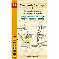 Camino de Santiago Maps: St. Jean-Pied-De-Port a Santiago de Compostela
