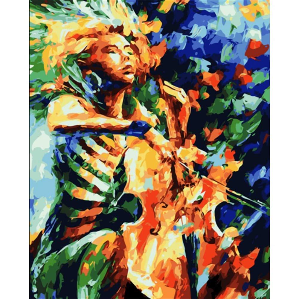 WAZHCY Malen Sie nach Zahlen für Erwachsene abstrakt weiblich Cello DIY für Kinderanfänger-Kits 40X50CM Ohne Rahmen B07PGQBWYC   Online Store