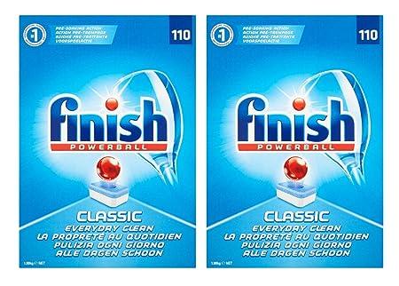 Finish Powerball Classic - Pastillas para lavavajillas (110 ...