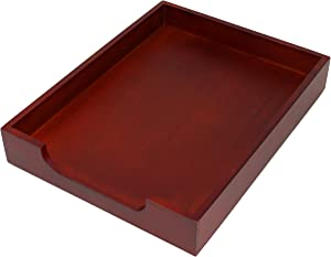 HumanCentric Wood Letter Tray (Mahogany) | Desk Paper Tray for Files and Documents | Inbox Tray for Office