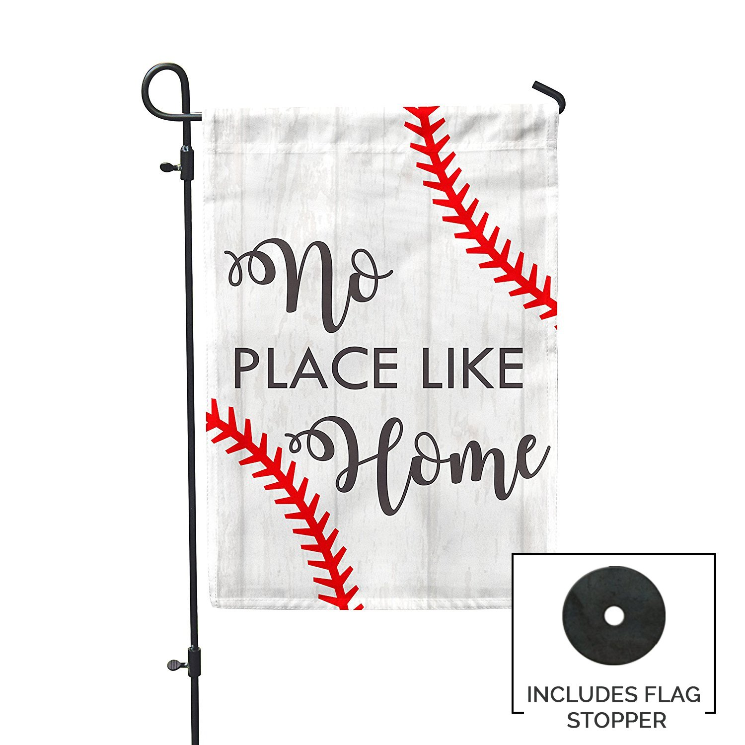 Second East No Place Like Home Baseball Garden Flag Outdoor Patio Seasonal Holiday Fabric 12''X18'' by Second East