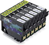 OfficeWorld Replacement for Epson 18XL Black Ink Cartridges Compatible for Epson Expression Home XP-202 XP-305 XP-415 XP-412 XP-215 XP-312 XP-212 XP-102 XP-405 XP-205 XP-302 XP-402 XP-315, Pack of 6