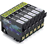 OfficeWorld Replacement for Epson 18XL Black Ink Cartridges High Capacity Compatible for Epson Expression Home XP-202 XP-305 XP-415 XP-412 XP-215 XP-312 XP-212 XP-102 XP-405 XP-205 XP-302 XP-402 XP-315 XP-405WH XP-30, Pack of 6