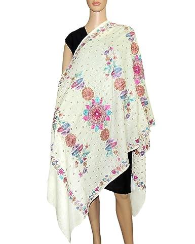 dd227c47c Navratri Sale Beautiful Woolen, Flower design, Embroidery Stole, Shawl, .