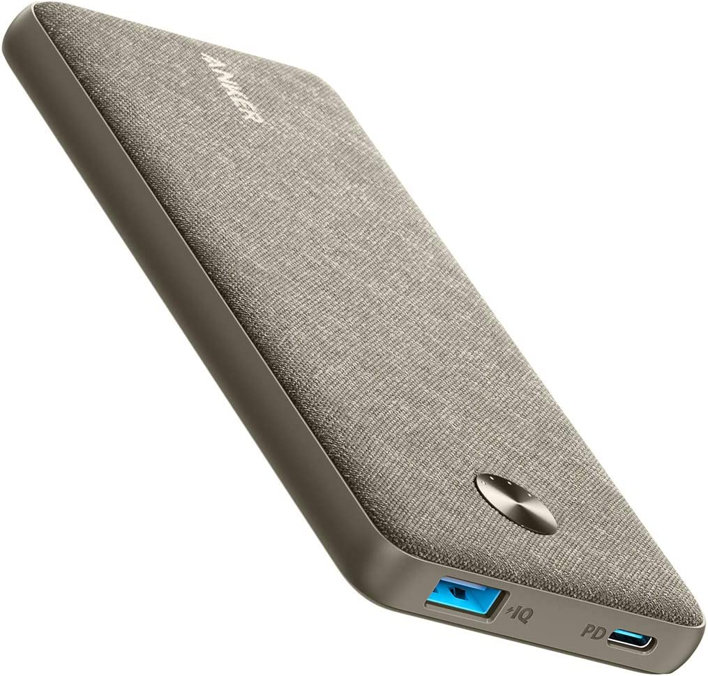 Anker PowerCore III Sense 10K Winter Sage, 10000mAh Portable Charger USB-C Power Delivery (18W) Power Bank for iPhone 11/11 Pro / 11 Pro Max / 8 / X/XS/XR, S10, Pixel 3, iPad Pro 2018, and More