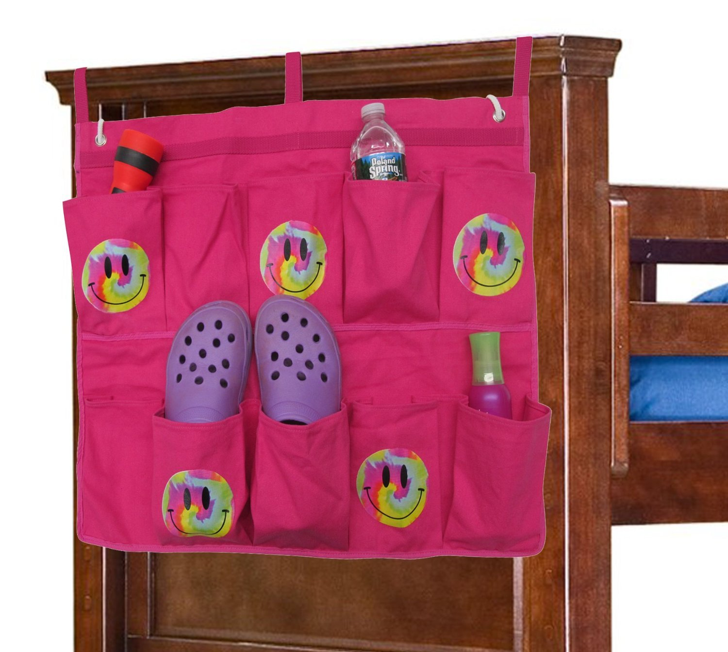 (Pink/Smiley) - End Of Bed Shoe Bag B00CXULUJ0 Pink/Smiley