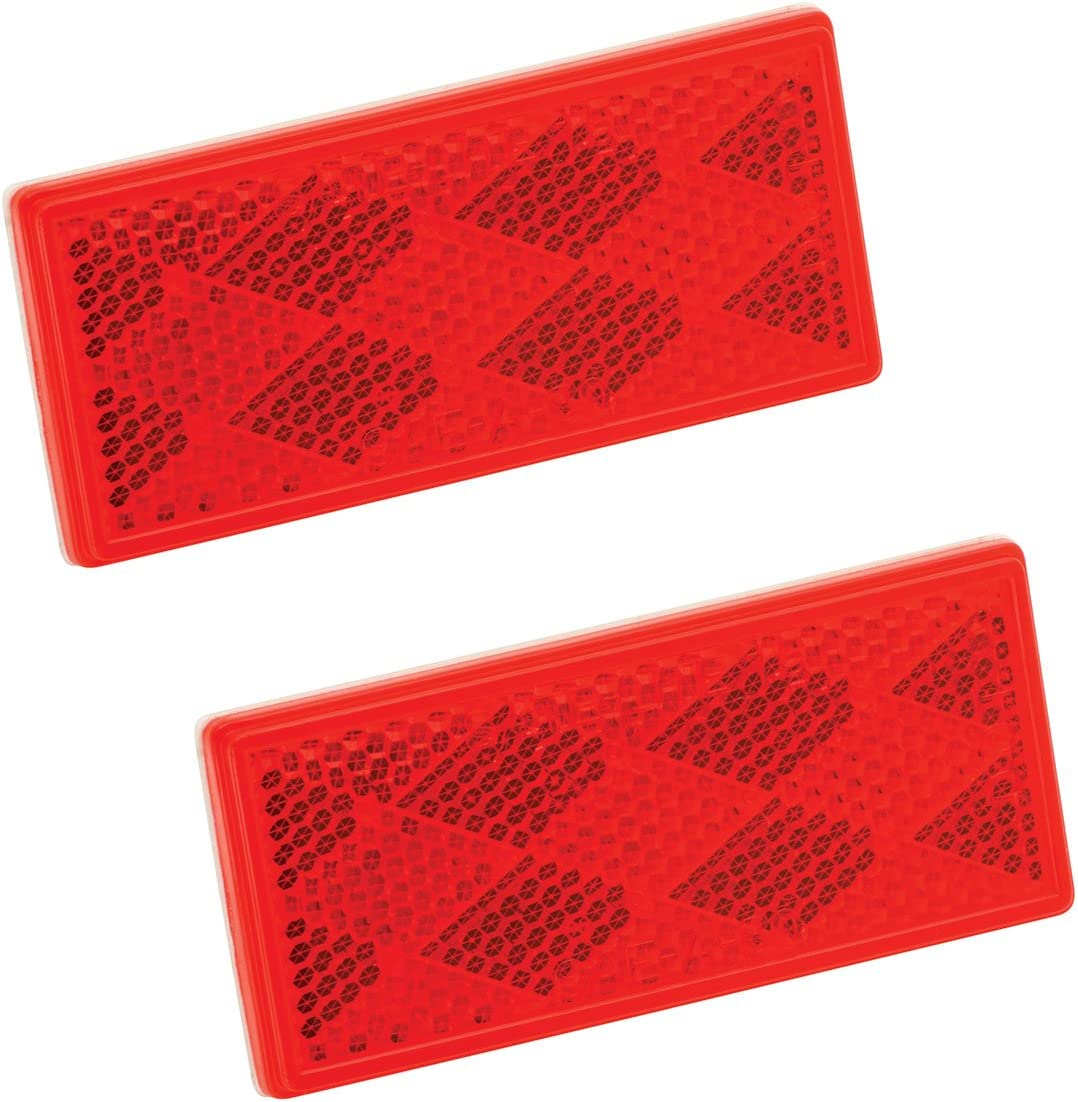 2 Pack Class A Oblong Amber with Mounting Holes and Adhesive Back Bargman 71-78-020 Reflector