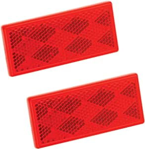 Red 1 x 12 Conspicuity with Adhesive Back - 4 Pack Bargman 74-72-030 Reflector