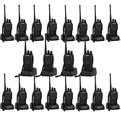 Ansoko 20 Pack Walkie talkies Long Range with Earpiece Rechargeable 2 Way Radio UHF 400-470MHz 16-Channel for Outdoor Warehouse Factory Security Com Travel etc.(Pack of 20): Car Electronics