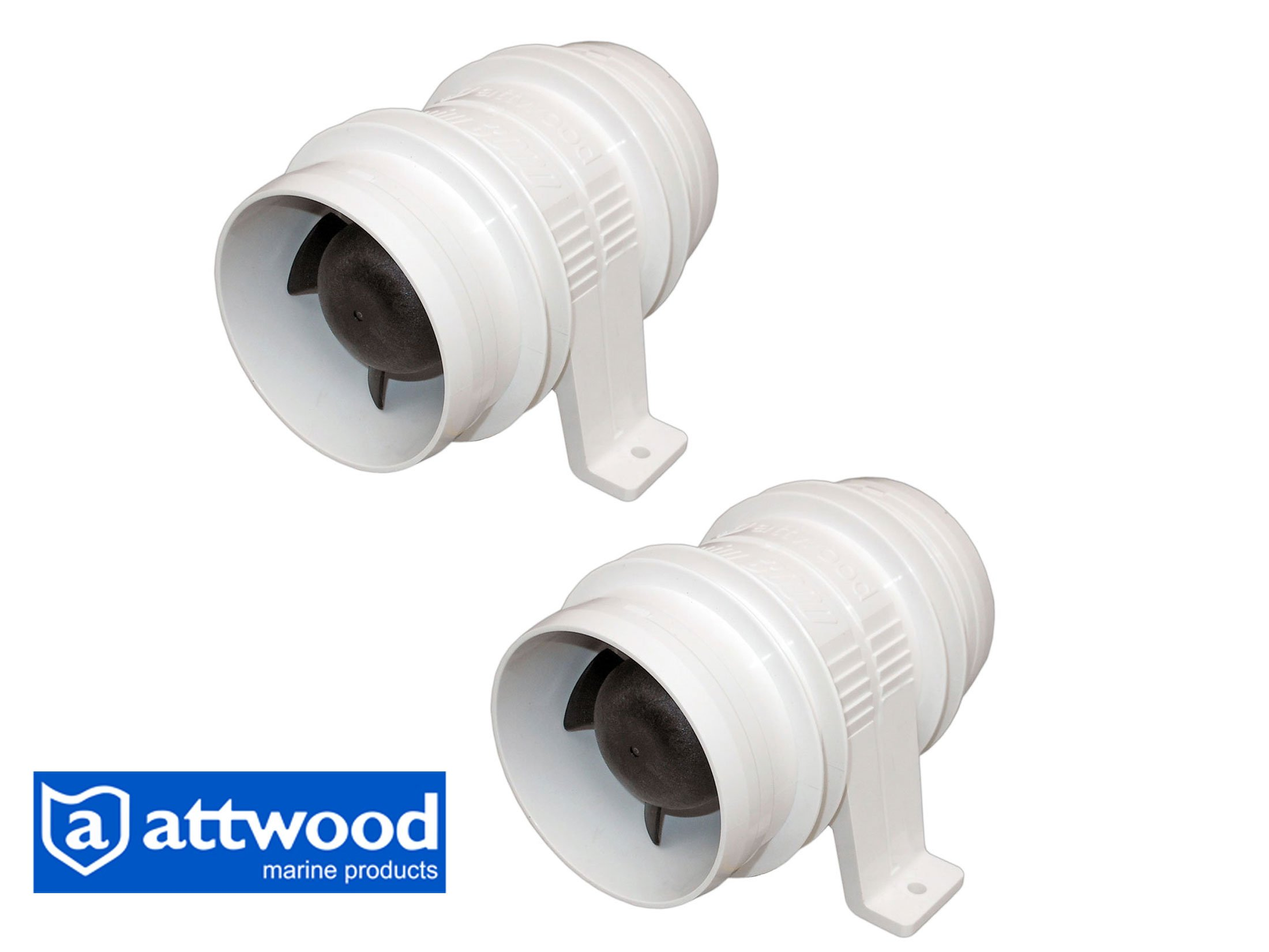 Set of 2 - Marine 3'' Electric In-line Blower for Boats & Rvs - 12v – Attwood Turbo 3000