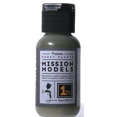 Mission Models Premium Hobby Paints - Olivegrun RAL 6003 (1oz bottle): Toys & Games