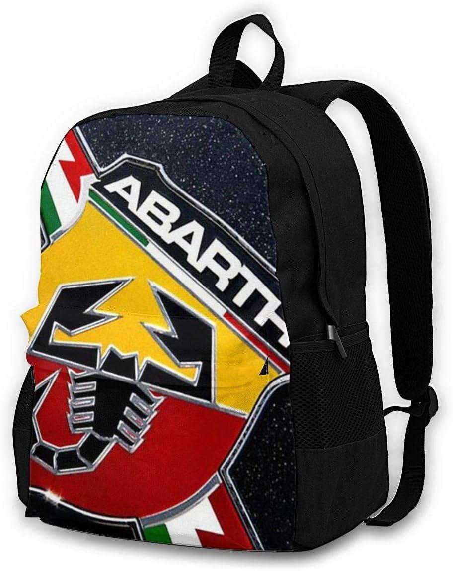 Iubbki Chenwe Fiat 500 Abarth Logo Klassischer Rucksack Für Erwachsene Outdoor Freizeitrucksack Studententasche Koffer Rucksäcke Taschen