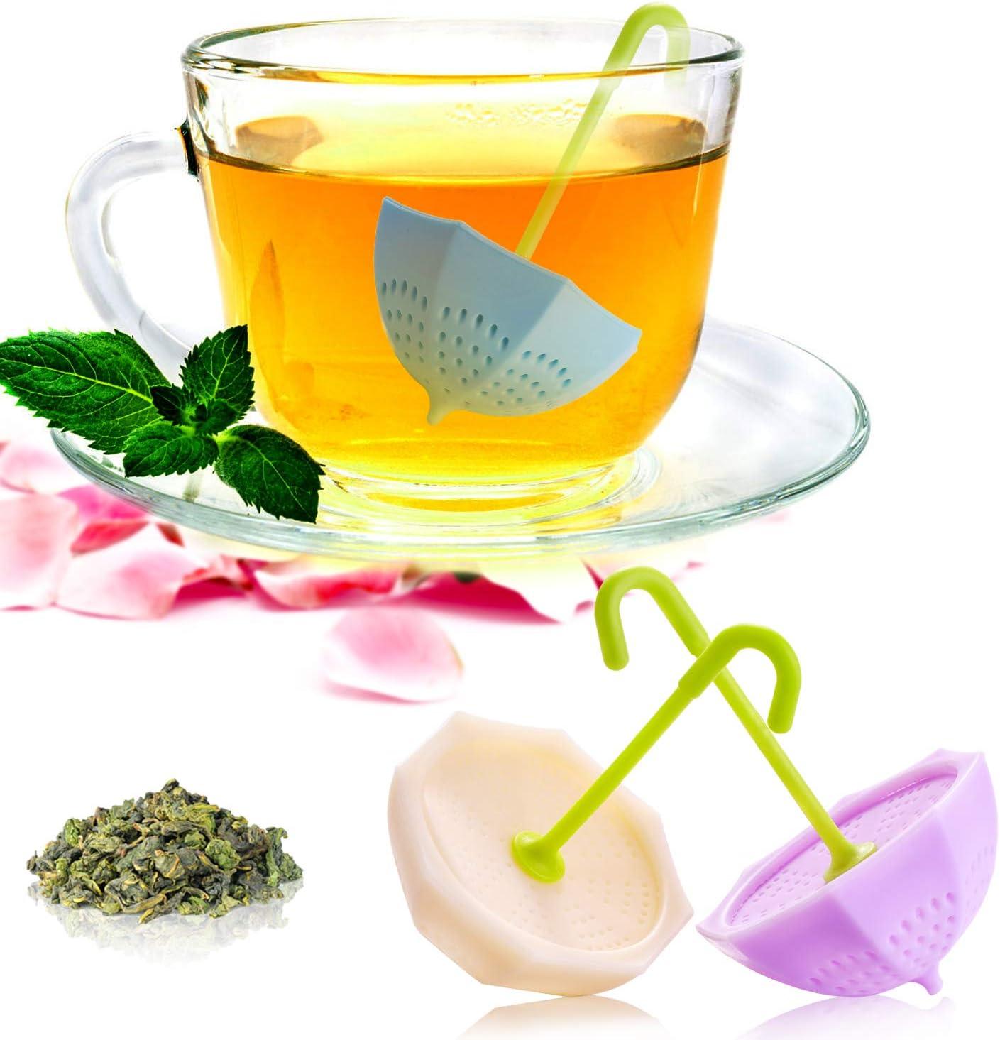 Loose Leaf Tea Infuser -Senbowe 3 Pack Reusable Silicone Tea Infuser Strainer,Genuine Premium Loose Leaf Infuser/Tea Balls, Stainless Steel Strainer, for All Types of Loose Leaf Tea