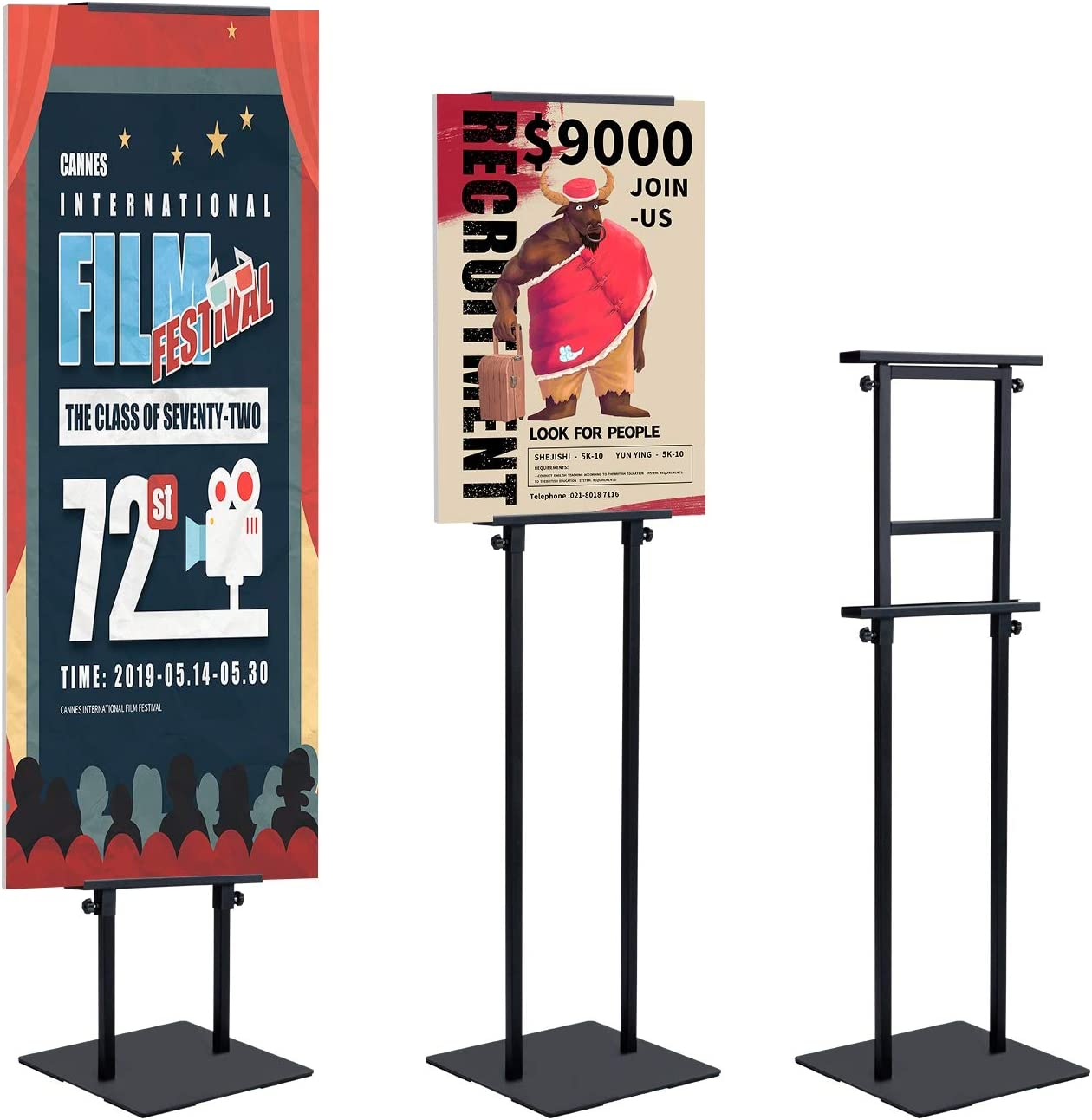 """Heavy-Duty Poster Sign Holder Frame Floor Stand 19.5/"""" x 27.5/"""" Stand Only"""