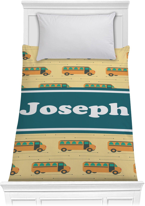 School Bus Comforter - Twin (Personalized)