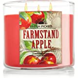 BATH AND BODY WORKS HOME Farmstand Apple scented, 14.5 oz; 3 wicked candle