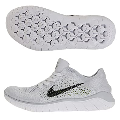 the latest 9a2ae f8966 Nike Women's Free RN Flyknit 2018 Running Shoes (8.5, White/Grey)