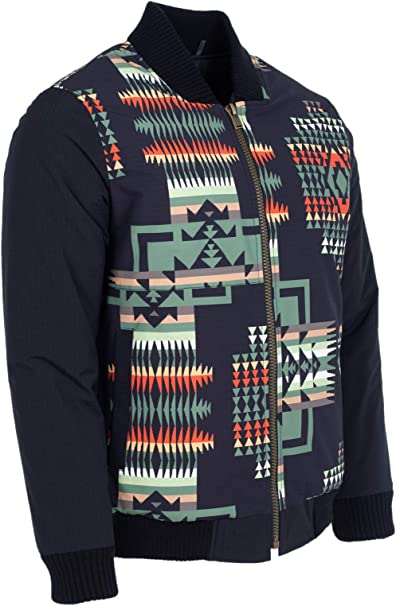 PM7690 Pendleton Men/'s Cody Desert Sunset Print Bomber Jacket