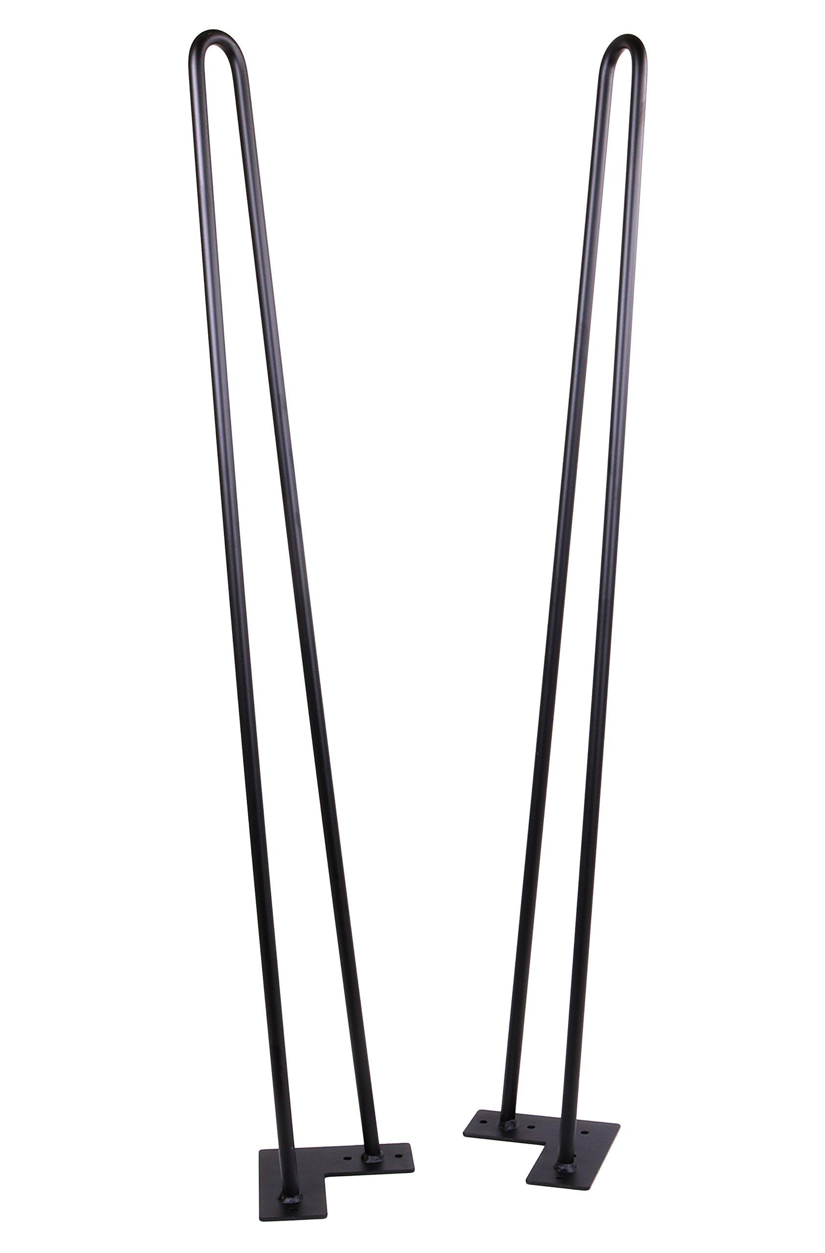 34'' Hairpin Legs (Matte Black) DIY Industrial Strength Mid Century Modern Table Legs, Set of 4 (34'') by ECLV (Image #4)
