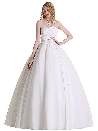 Austen – 3868 Brautkleid mit Rückenschnürung Weiß Gr.36-56: Amazon ...