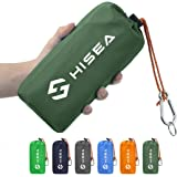 Hisea Compact Lightweight Waterproof Outdoor Travel Blanket Sandproof Picnic Blanket for Camping Hiking Grass Beach Festivals with Corner Pockets and Stakes