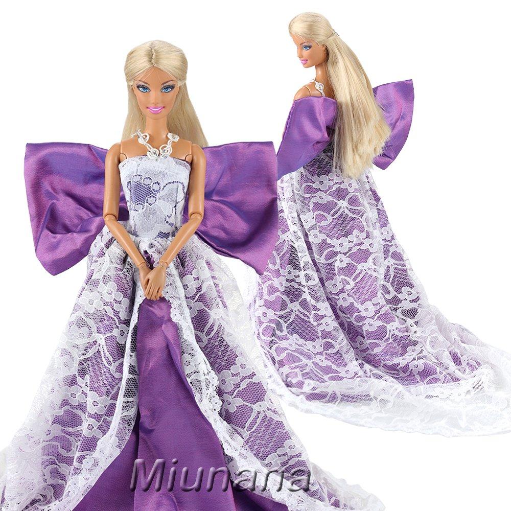 Amazon.es: Miunana 3 piezas Princesa Vestido de Noche Traje de Ropa ...