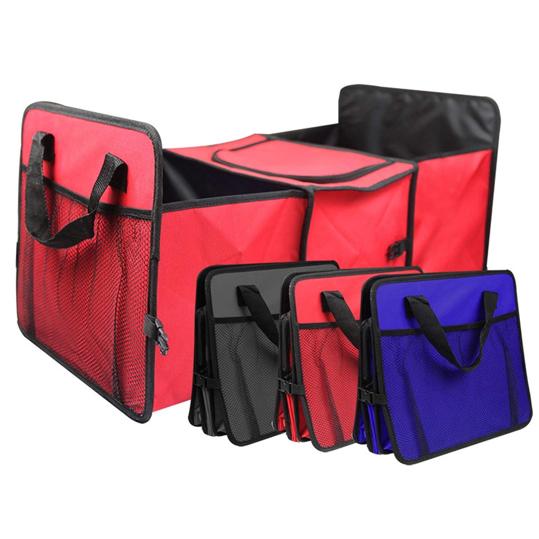 Premium Quality PME Folding Trunk Organizer I Back seat Organizer I Car Trunk Storage Container I Truck Storage case I 600D Oxford Polyester