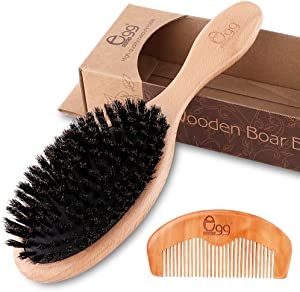 Sweepstakes: BLACK EGG Boar Bristle Hair Brush with…