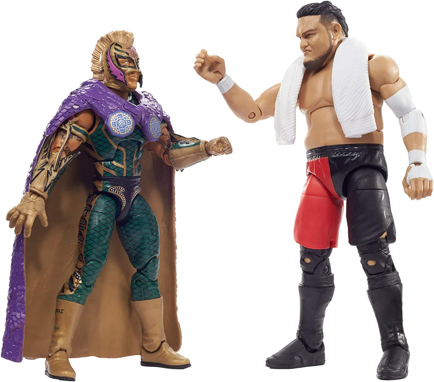 WWE Battle Pack with Two 6-inch Articulated Action Figures & Ring Gear, Mysterio Vs Somoa Joe