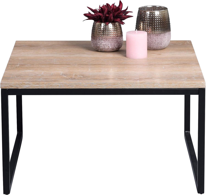 60x60cm HomeTrends4You Delhi 1 Table Basse H/öhe 35cm Marron Clair