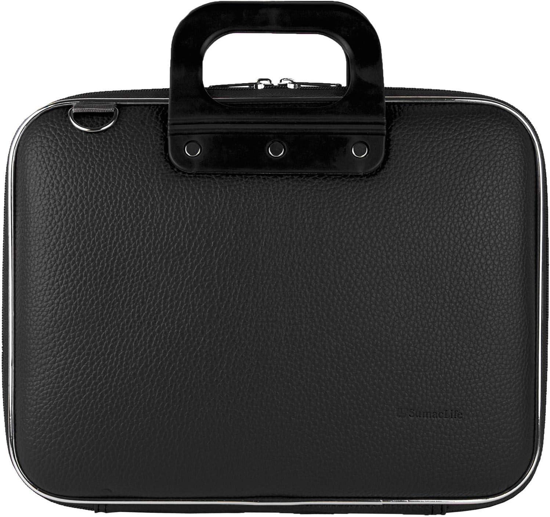 15.6 inch Laptop Hard Faux Leather Carrying//Shoulder Suit Case fits 15 SUMACLIFE Cady Universal Tablet Netbook eReader