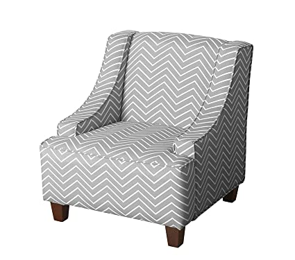 Wondrous Amazon Com Premium Youth Upholstered Swoop Arm Accent Chair Theyellowbook Wood Chair Design Ideas Theyellowbookinfo